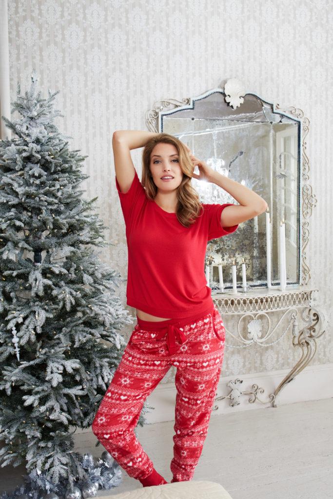 Vánoční pyžamo Fairisle Minky